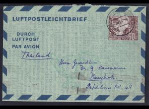 Berlin Luftpost-Ganzsache Mi.-Nr. LF 5 nach Bangkok gelaufen.