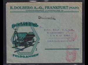 DR. Reklame-Brief, Feldbahnen R.Dolberg A.G, Frankfurt
