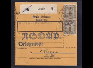 DR. Mi.-Nr. D 153 MeF. auf Paketkarte