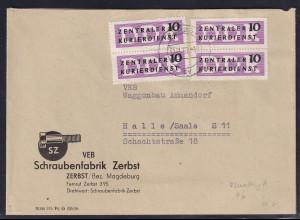 DDR. ZKD-Brief, Fernbrief mit MeF. Dient-B. Mi.-Nr. 6