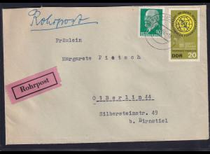 DDR.,Rohrpostbrief innerhalb Berlin von 1966