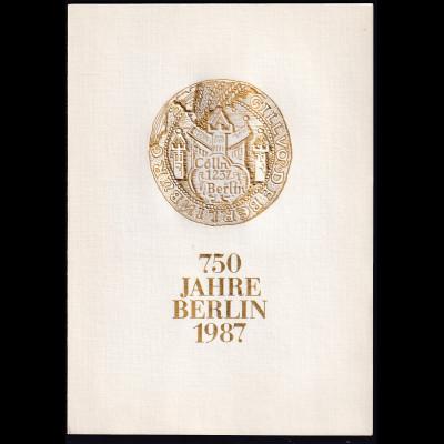 DDR -Gedenkblatt, 750 Jahre Berlin 1987 B8-1987