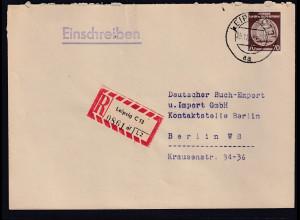 DDR.Dienst- R-Fernbrief mit EF. Mi.-Nr. D. 41 yAY, geprüft Mayer