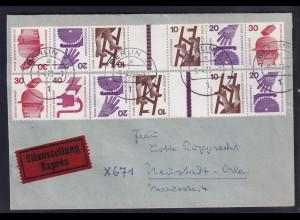 Berlin, Eilbote-Fernbrief mit Mi.F. aus Unfallverhütung ZD.