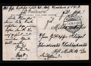 Deutsche Kolonie, Deutsch-Südwestafrika, AK. Wasserstelle Rehoboth gelaufen