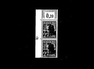 SBZ Mi.-Nr.182 a W OR/DZ postfrisch, FA. DR. Ruscher