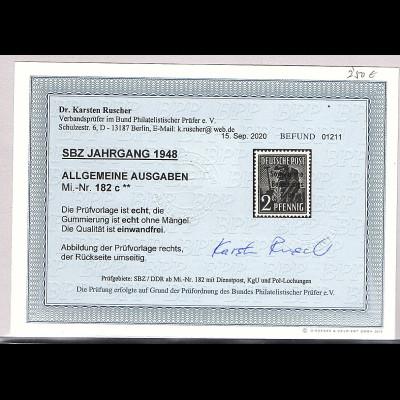 SBZ., Mi.-Nr.182 c postfrisch, Befund. DR. Ruscher