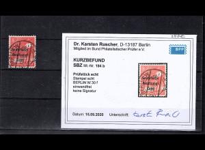 SBZ Mi.-Nr.184 b gestempelt, KB.. DR. Ruscher
