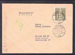 Berlin, Postschnelldienst mit EF. Mi.-Nr.40, sign. SchlegelBPP: