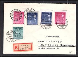 DDR. R-Fernbrief mit Mi.F. Mi.-Nr. 459-60 A+B,470