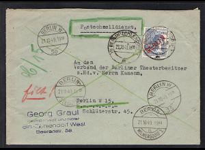 Berlin, Postschnelldienst mit EF. Mi.-Nr. 32, sign. SchlegelBPP: