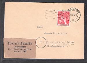 Berlin, Fernbrief mit EF. Mi.-Nr. 69, sign. SchlegelBPP: