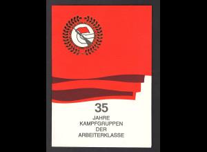 DDR -Gedenkblatt, 35 Jahre Kampfgruppen der Arbeiterklasse B24-1988