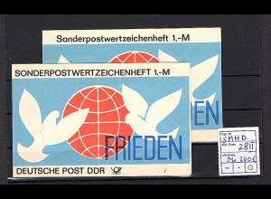 DDR Markenheftchen Mi. SMHD 28 I + II postfrisch