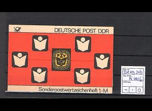 DDR Markenheftchen Mi. SMHD 24 b postfrisch