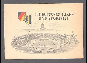 DDR - Gedenkblatt, II Deutsches Turn- und Sportfest C2-1956 a