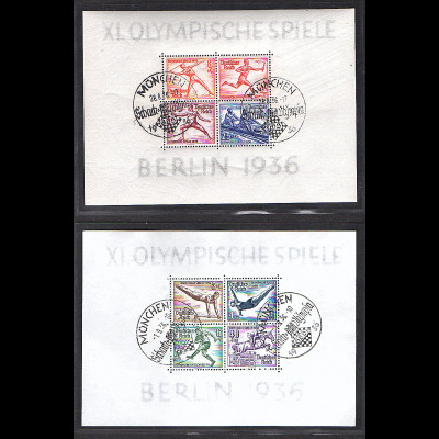 DR., Mi.-Nr. Block 5 + 6, gestempelt München Schach - Olympia