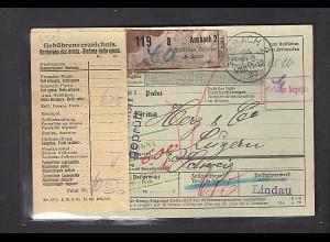 DR., Ausland-Paketkarte mit Gebühr bezahlt aus Annsbach2/Selbstbucher
