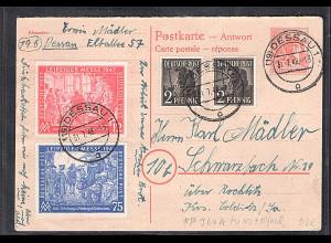 Gemeinschaftausgaben, Ganzsache Mi.-Nr. P 964 A + 10 Fach., Bedarfsgelaufen