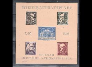 SBZ-Thuringen Mi.-Nr. Block 3 B ya F II U