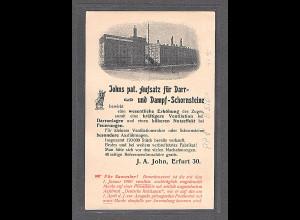 DR., Privatganzsache PP 8-B5/01, J.A. John, Erfurt 30, gest.
