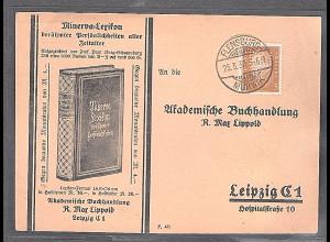DR. Reklame-Karte, Minerva-Lexikon, Lippold, Leipzig
