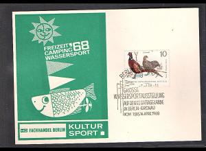 DDR - Gedenkblatt, Wassersportausstellung 1968