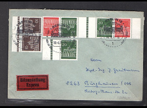 Berlin, Eilbote-Fernbrief mit Mi.F. aus Brandenburger Tor ZD.