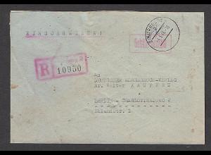All. Bes. R-Fernbrief mit Gebühr Bezahlt aus Nürnberg-4.5.46