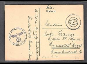 Danzig, Feldpostkarte von 15.1.42 Stempel Type d/19