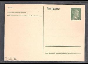 DR. Ganzsache Mi.-Nr. P 298 II ungebraucht.