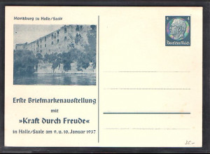DR., Privatganzsache, 1. Briefmarkenausstellung mit KdF, PP 125-C2, ungebraucht
