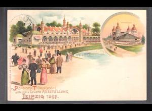 DR., Privatganzsache, Gewerbe Ausstellung, Leipzig 1897, gelaufen.