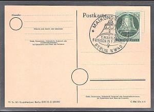 Berlin, Mi.-Nr. 76 auf Karte mit ESST/FDC