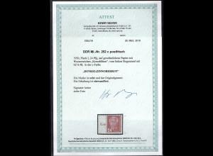DDR. Mi.-Nr. 252 C postfrisch mit Seitenrand, FA. Mayer