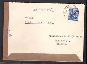 Berlin, Auslandbrief mit EF.Mi.-Nr.13, zensiert.
