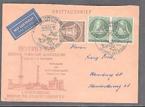 Berlin, Fernbrief mit MiF.Mi.-Nr. 101 +102