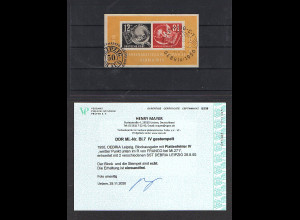 DDR. Mi.-Nr. Block 7 IV gestempelt, Befund Mayer