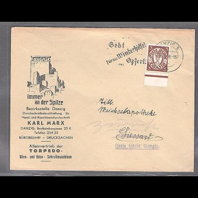DR. Reklame-Brief, Bürobedarf, Karl Marx, Danzig.