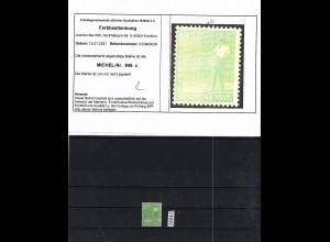 All. Besetzung, Mi, Nr. 946 c Postfrisch, Befund Bernhöft.