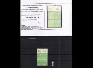 All. Besetzung, 2 x Mi, Nr. 946 c OR. Platte Postfrisch, Befund Bernhöft.