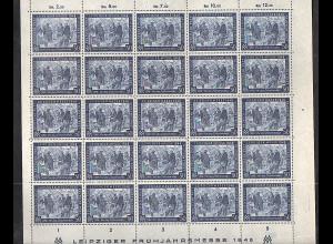 All. Besetzung, 967 b kompletter Bogen **, farbgeprüft Bernhöft