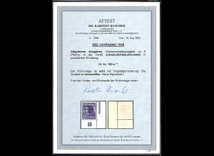SBZ Mi.-Nr.183 e postfrisch untere rechte Eckrand, FA. DR. Ruscher