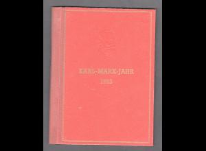 DDR., Karl-Marx Büchlein mit Karl-Marx-Ausstellung-Sonderstempel