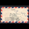 Fr.-Zone Rhein.-Pfalz MiF. Mi.-Nr. 25, 38 auf Ausland-Brief nach Brasilien.
