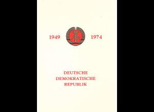 DDR - Gedenkblatt, 25 Jahre DDR A16-1974 b