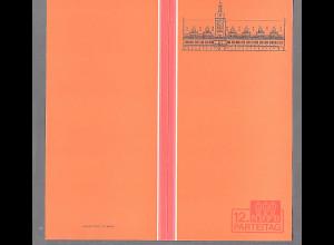 DDR - Gedenkblatt, 12 NDPD Parteitag, C3-1982