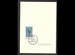 DDR - Gedenkblatt, Einladung zur Intererartes 1972, B14-1972a