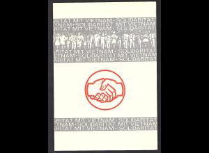 DDR - Gedenkblatt, Solidarität mit Vietnam , B4-1969