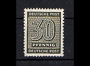 SBZ-Westsachsen Mi.-Nr. 135 w b Y, postfrisch FA. SchulzBPP.